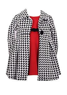 Girls 4-6x Houndstooth Coat Dress Set