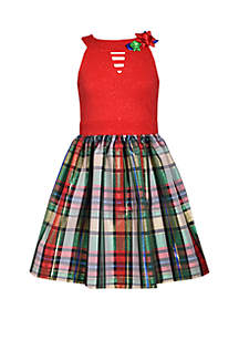 Girls 4-6x Christmas Package Dress