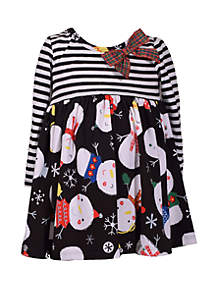 Girls 4-6x Mixed Media Yummy Dress