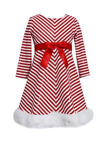 Girls 4-6x Candy Cane Stripe Dress