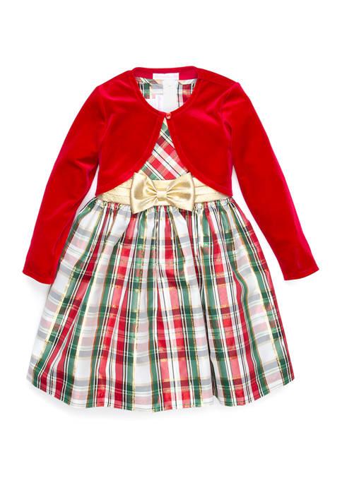 Bonnie Jean Girls 4-6x Plaid Sweater Dress