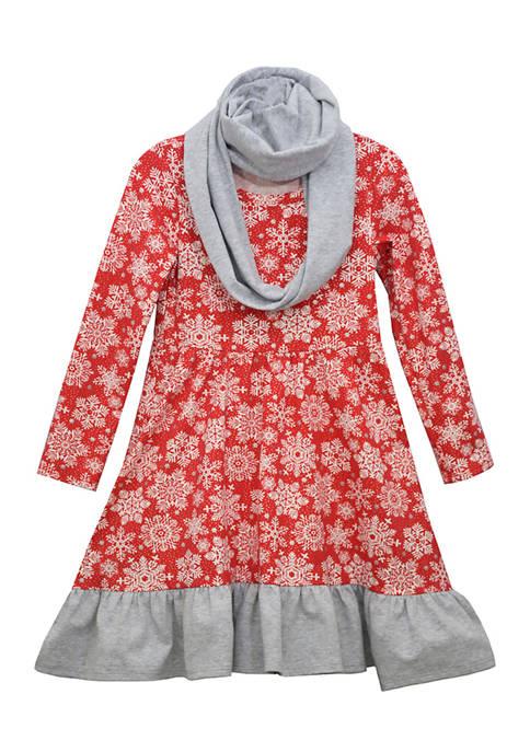 Bonnie Jean Girls 7-16 Infinity Scarf Dress