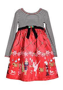 Girls 7-16 Nutcracker Stripe Dress