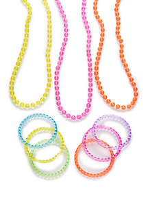 Glitter Necklace and Bangles Set