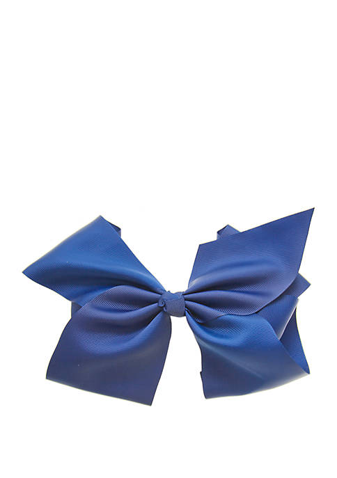 Toddler Girls Jumbo Bow on Salon Clip