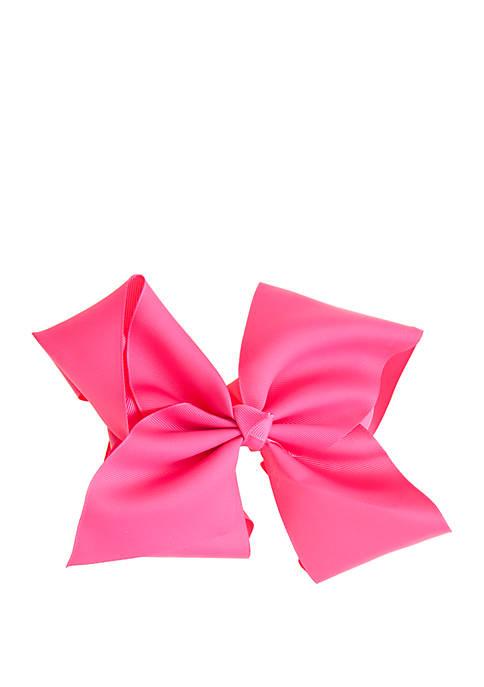 Toddler Girls Jumbo Bow on Salon Clip