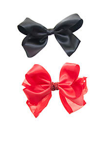 Satin Bow Set with Hint of Lurex