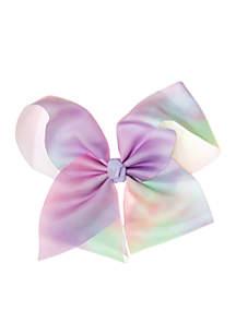 Girls Jumbo Tie-Dye Hair Bow