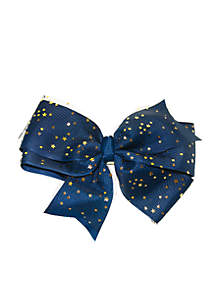 Tulle Bow with Star Print
