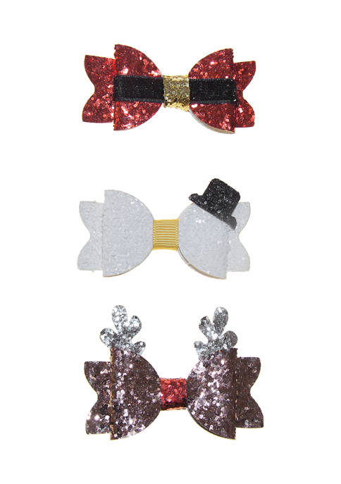 Riviera Girls Assorted Holiday Bow Set