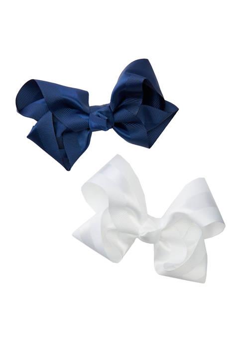 Set of 2 Satin Stripe Bows