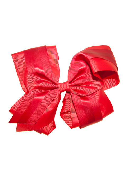 Riviera Girls Double Layer Satin Stripe Bow