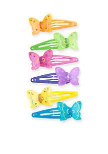 6-Pack Frosted Butterfly Clip Set