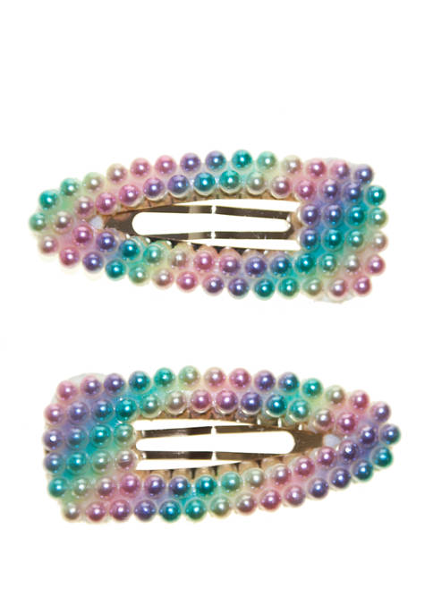 Girls Rainbow Clips