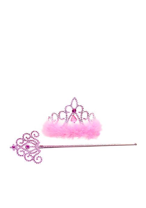 Riviera Marabou Diva Crown and Wand Set