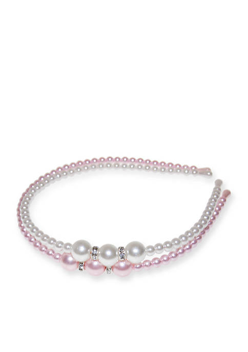 Riviera 2-Pack Pearl and Rhinestone Headbands