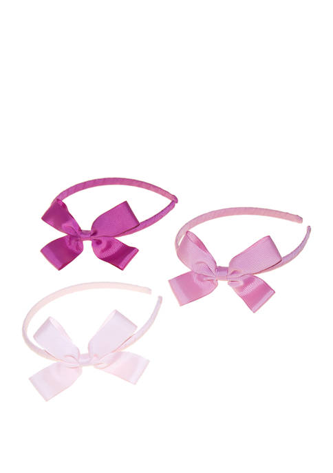 Toddler Girls Set of 3 Small Bow Hairbands