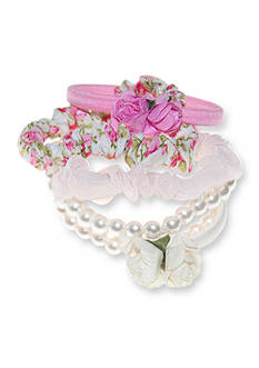 Riviera 6-Pack Pearl and Flower Hairbands