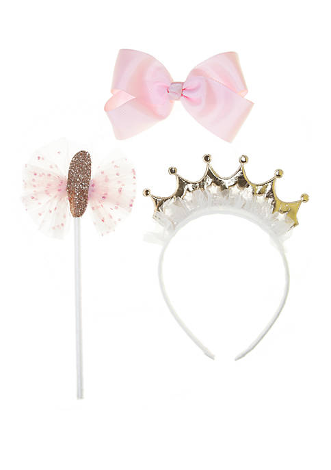 Toddler Girls Crown, Bow and Wand Set