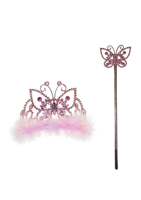 Girls Butterfly Crown and Wand