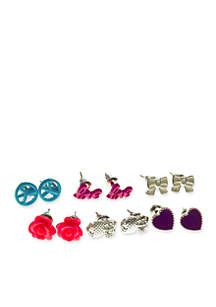 6-Pack Assorted Earring Set