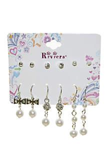 Riviera 6-Pack Pearl Earring Set
