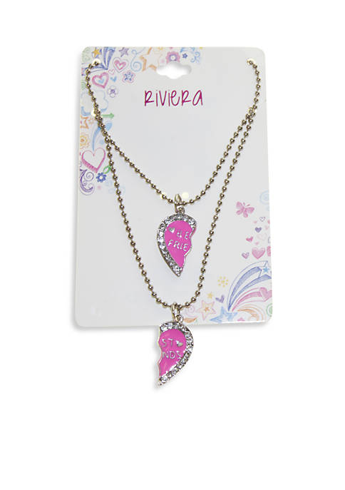 Riviera 2-Pack Heart Best Friend Necklaces
