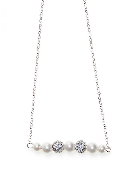 Riviera Crystal and Pearl Necklace