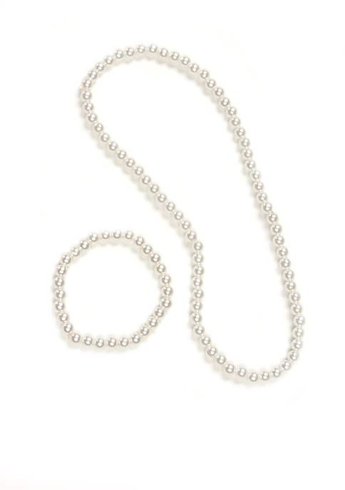 Riviera Faux Pearl Necklace Set