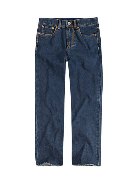 Girls 4-6x High Rise Ankle Straight Jeans