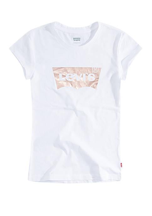 Levi's® Girls 4-6x Short Sleeve Batwing Graphic T-Shirt