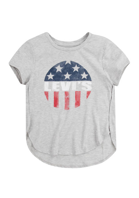 Levi's® Girls 4-6x Short Sleeve Americana Graphic High