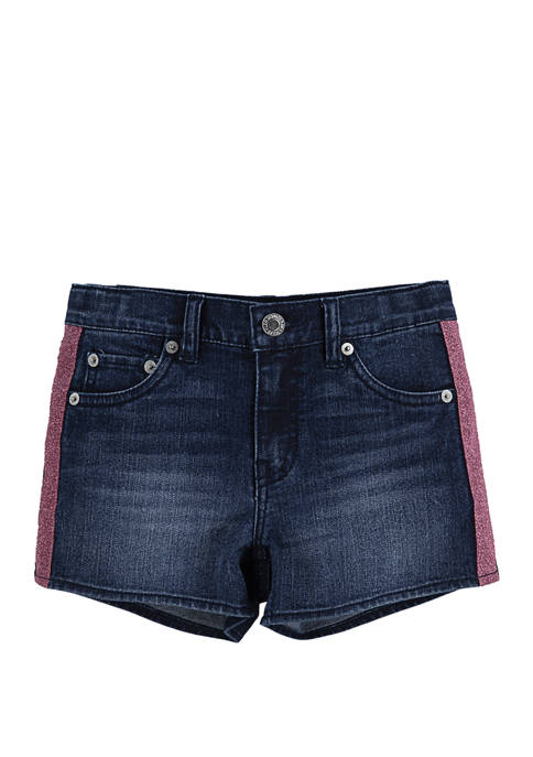Levi's® Girls 4-6x Stretch Denim Shorty Shorts