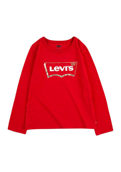 Levi's® Girls 4-6x Long Sleeve Graphic T-Shirt
