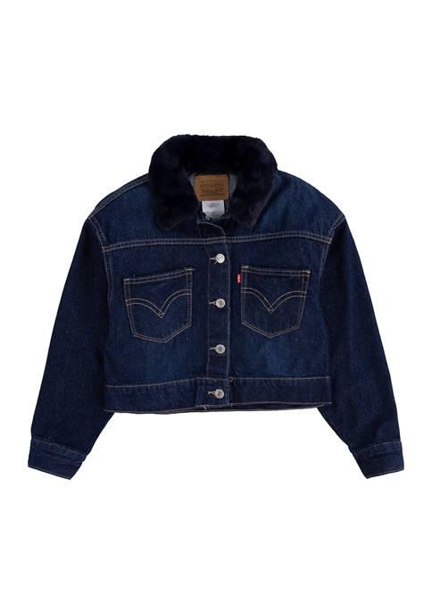 Girls 4-6x Oversized Trucker Jacket