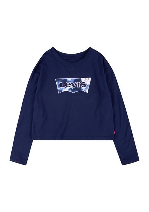 Girls 4-6x  Long Sleeve Heart Graphic T-Shirt