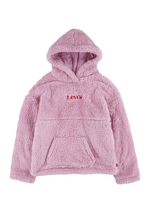 Girls 4-6x Long Sleeve Sherpa Hoodie