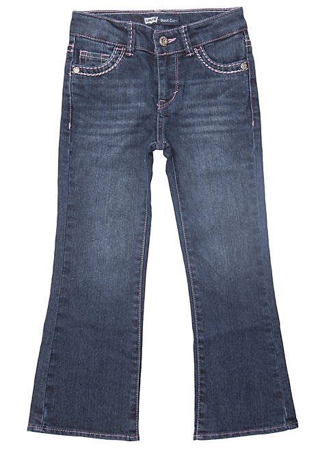 Levi's® Boot Cut Denim Blue Jeans For Girls