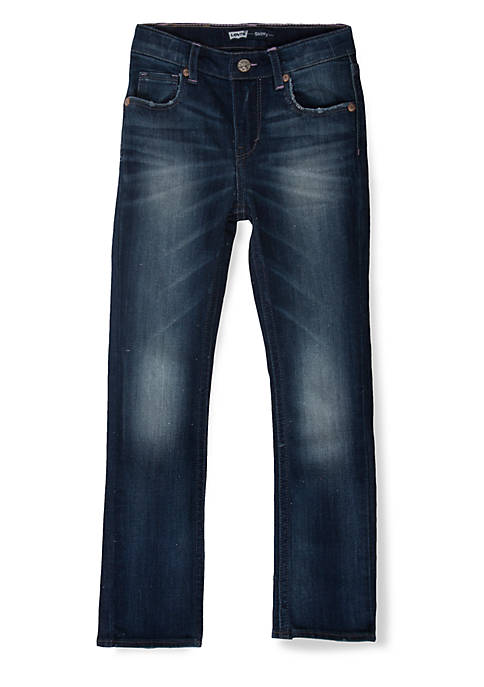 Levi's® Jami Heart Slim Straight Jean Girls 4-6x
