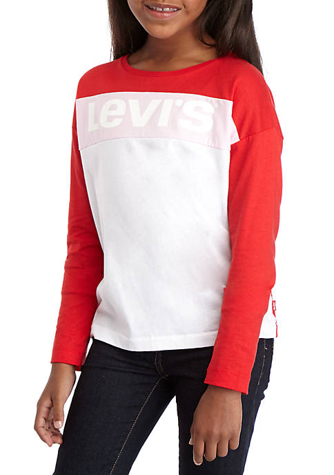 Levi's® Girls 7-16 Long Sleeve Boxy Knit T-Shirt