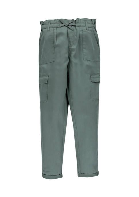Girls 7-16 Paper Bag Jeans