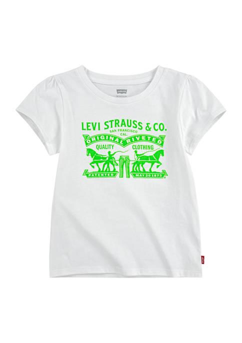Girls 7-16 Short Sleeve Neon Graphic T-Shirt