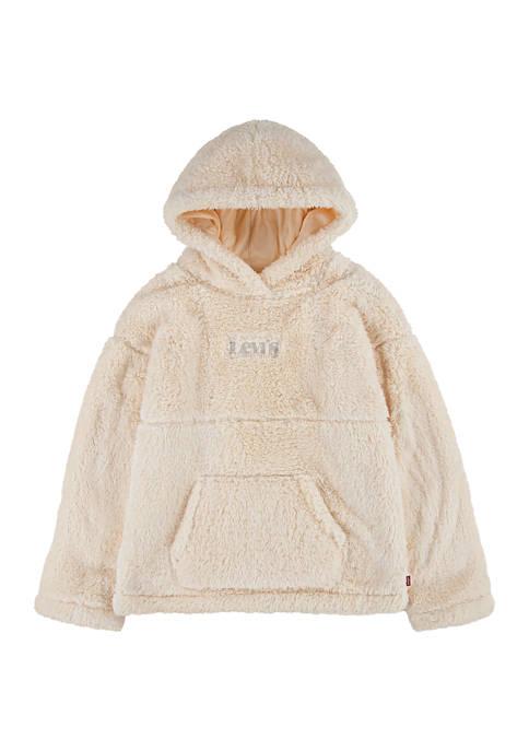 Levi's® Girls 7-16 Long Sleeve Sherpa Hoodie