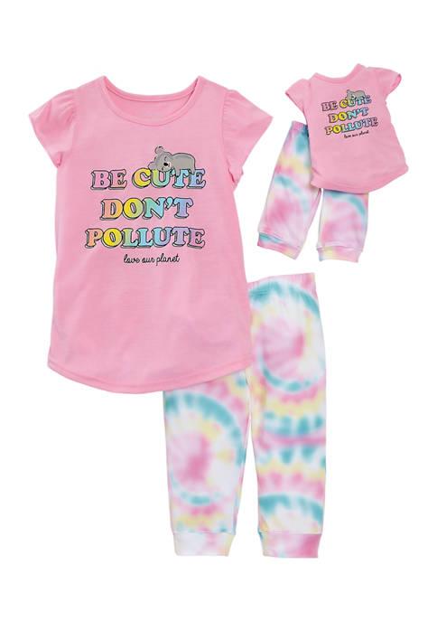 Girls 4-6x Koala Doll Pajama Set