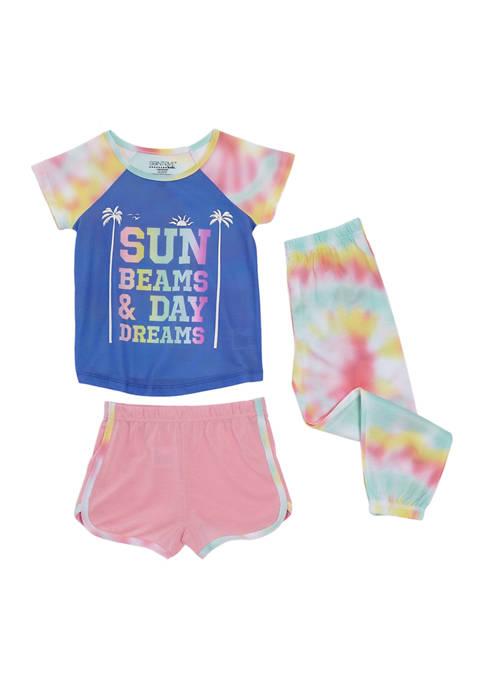 Saint Eve Kids Girls 4-16 Sun 3-Piece Pajama