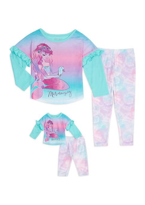 Girls 4-6x Mermaid Me and My Dream Doll Set