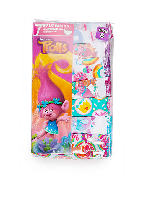 Handcraft 7-Pack Trolls Underwear Girls 4-6x