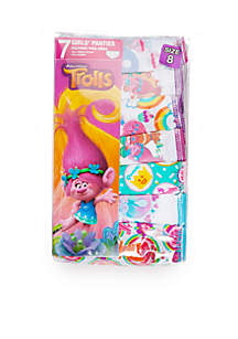 Girls 4-8 Trolls Underwear Set