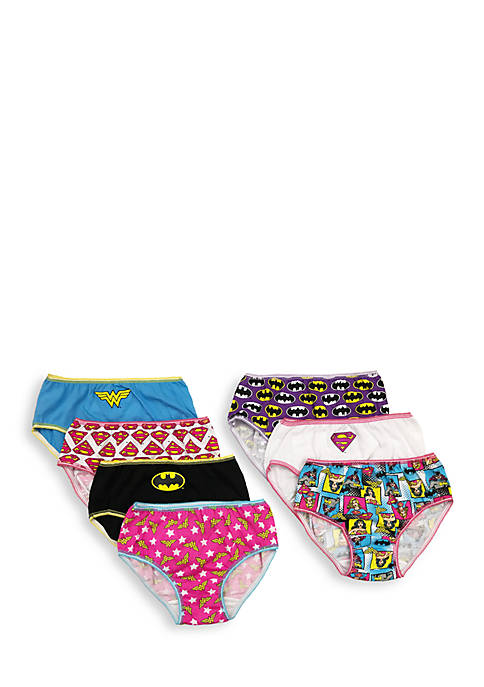 Handcraft 7-Pack Justice League Underwear Girls 4-6x