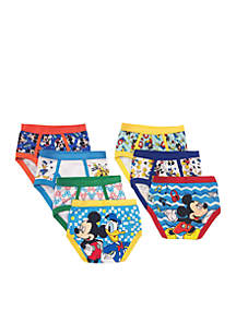 Handcraft 7-Pack Mickey Mouse Underwear Toddler Boys